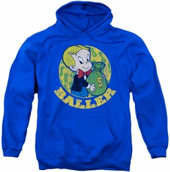 Richie Rich pull-over hoodie Baller adult royal blue