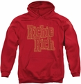 Richie Rich pull-over hoodie Stacked adult red