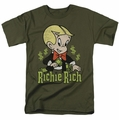 Richie Rich t-shirt Rich Logo mens military green