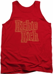 Richie Rich tank top Stacked mens red