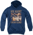 Rise Against youth teen hoodie Alive And Well navy