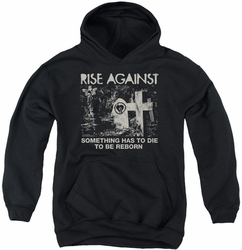 Rise Against youth teen hoodie Cemetery black