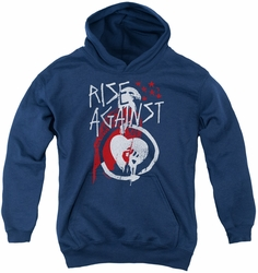 Rise Against youth teen hoodie Eagle navy