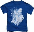 Rise Of The Guardians kids t-shirt Coming For You royal blue