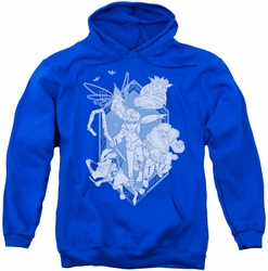 Rise Of The Guardians pull-over hoodie Coming For You adult royal blue