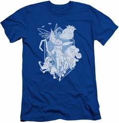 Rise Of The Guardians slim-fit t-shirt Coming For You mens royal blue