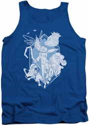 Rise Of The Guardians tank top Coming For You mens royal blue
