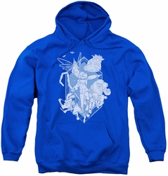 Rise Of The Guardians youth teen hoodie Coming For You royal blue