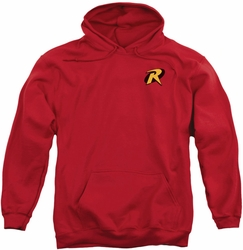 Robin pull-over hoodie Logo adult red