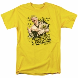 Robocop t-shirt Toxic Waste Inspector mens yellow