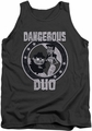 Rocky & Bullwinkle tank top Dangerous mens charcoal