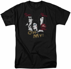 Rocky Horror Picture Show t-shirt Oh 3 Ways mens black