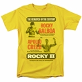 Rocky II t-shirt Rematch mens yellow