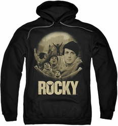 Rocky pull-over hoodie Feeling Strong adult black