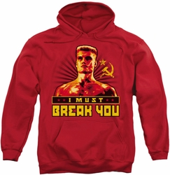 Rocky pull-over hoodie I Must Break You adult red