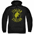 Rocky pull-over hoodie Italian Stallion Horse adult black