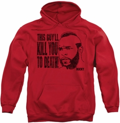 Rocky pull-over hoodie Kill You To Death adult red