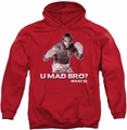Rocky pull-over hoodie U Mad Bro adult red