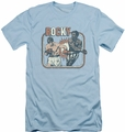 Rocky slim-fit t-shirt Big Fight mens light blue