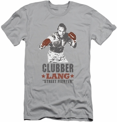 Rocky slim-fit t-shirt Clubber mens silver