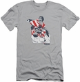 Rocky slim-fit t-shirt Graphic Flag mens silver