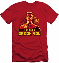 Rocky slim-fit t-shirt I Must Break You mens red