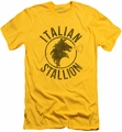 Rocky slim-fit t-shirt Italian Stallion Horse mens yellow
