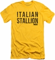 Rocky slim-fit t-shirt Italian Stallion mens yellow