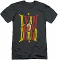 Rocky slim-fit t-shirt Ivan mens charcoal