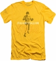 Rocky slim-fit t-shirt Stallion Swag mens yellow