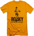 Rocky slim-fit t-shirt The Italian Stallion mens gold