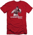 Rocky slim-fit t-shirt U Mad Bro mens red