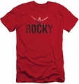 Rocky slim-fit t-shirt Victory Distressed mens red
