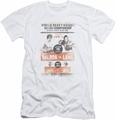 Rocky slim-fit t-shirt Vs Clubber Poster mens white