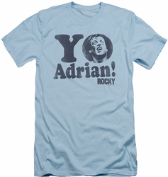 Rocky slim-fit t-shirt Yo Adrian mens light blue