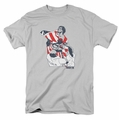 Rocky t-shirt Graphic Flag mens silver