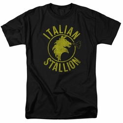 Rocky t-shirt Italian Stallion Horse mens black