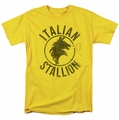 Rocky t-shirt Italian Stallion Horse mens yellow