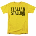 Rocky t-shirt Italian Stallion mens yellow