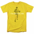 Rocky t-shirt Stallion Swag mens yellow