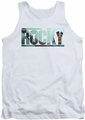 Rocky tank top Cutout Logo mens white