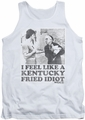 Rocky tank top Fried Idiot mens white