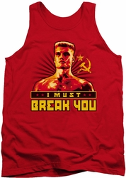 Rocky tank top I Must Break You mens red