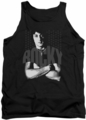 Rocky tank top Portrait  mens black