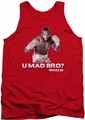 Rocky tank top U Mad Bro mens red