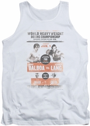 Rocky tank top Vs Clubber Poster mens white