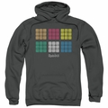 Rubik's Cube pull-over hoodie Minimal Squares adult charcoal