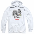 Rubik's Cube pull-over hoodie Nerd Squirrel adult white
