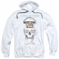 Rubik's Cube pull-over hoodie Outside The Cube adult white