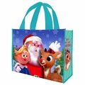 Rudolph Holly Jolly Christmas large gift tote
